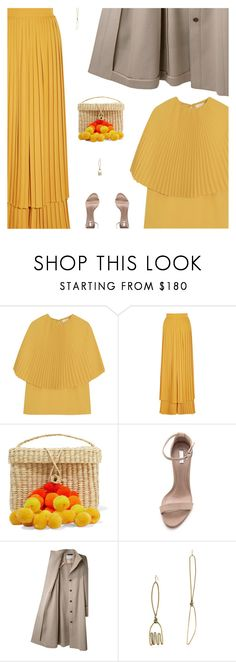 """Stay Golden: Dressing in Marigold - Contest Entry"" by amberelb ❤ liked on Polyvore featuring Sara Battaglia, Nannacay, Schutz, Viktor & Rolf, Rosie Assoulin and marigold"