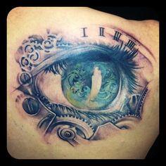 #Eye #clockface #gear tattoo by #Monkeytoy Sydney, Australia