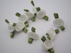 Satin Rose 10mm weiß