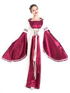 ca45138788 Vestido clásico de Jacquard para adultos de renacimiento para espectáculo  Color rojo rubí con vestido