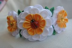 Handmade headband made in the technique of by BeautifulRibbon