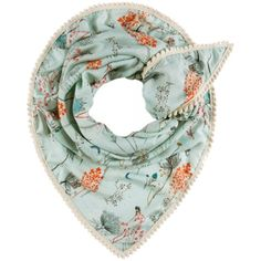 Pom Botanical Garden Scarf ($72) ❤ liked on Polyvore featuring accessories, scarves, shawl scarves, summer scarves, summer shawl, floral print scarves and floral scarves