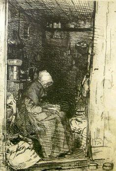 Whistler James Abbott McNeill Etching on Parchment | eBay