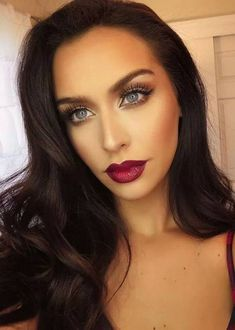 Red Berry lip & cheek + brown smokey eye. Wld be gorgeous translated to deeper skin tone