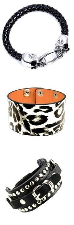 Shop punk rock animal print studded bracelets and jewelry for men and women at RebelsMarket!