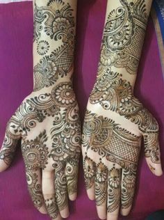 New Mehndi Designs Mehndi Designs Front Hand, Khafif Mehndi Design, Latest Arabic Mehndi Designs, Indian Henna Designs, Full Hand Mehndi Designs, Stylish Mehndi Designs, Henna Art Designs, Mehndi Design Photos, Wedding Mehndi Designs