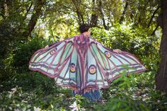 Luna moth cape isis wings costume adult Spanish luna moth cape chiffon belly dance by CostureroReal on Etsy https://www.etsy.com/listing/280310434/luna-moth-cape-isis-wings-costume-adult
