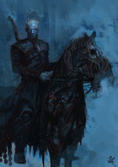 Whoa... what a fantastic piece of art. Terrifying! The Night King by Saad Irfan