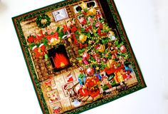 Advent Calendar Quilt Wall Hanging  Christmas Tree Fireplace Activity Panel  Fabric Advent Calendar  Christmas Quilt Handmade Holiday Decor by SallyManke on Etsy https://www.etsy.com/listing/240636783/advent-calendar-quilt-wall-hanging