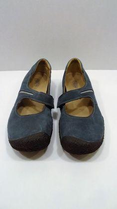 c4832ce7e51515 Keen Dark Green Leather Mary Jane Shoes Flats Sz 8  fashion  clothing  shoes