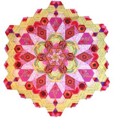 The New Hexagon Millefiore Quilt-Along: Rosette #1 – Red Thread Studio