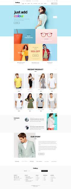 WooCommerce Fashion WordPress Theme : Fashion Plus Fashion Wordpress Theme, Fashion Website Design, Ecommerce Web Design, Web Layout, Design Layouts, Design Concepts, Design Guidelines, Fashion Room, Fashion Themes