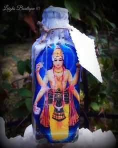 Dhanvantari Healing Witch Bottle by leighswiccanboutique on Etsy, $25.00
