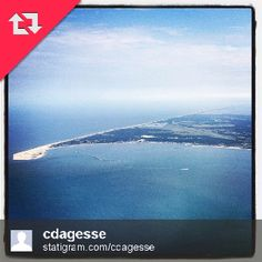 Great aerial shot of Lewes, Delaware from Instagram