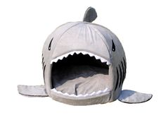 Amazon.com : Grey Shark Bed for Small Cat Dog Cave Bed Removable Cushion, waterproof Bottom Most Lovely Pet House Gift for Pet : Pet Supplies
