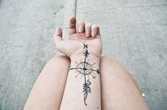 cardinal directions, compass, compass rose, cute, girl - inspiring picture on Favim.com