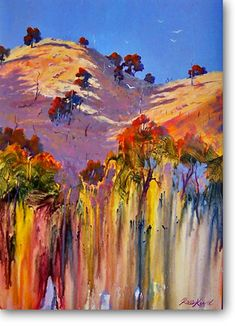 Sofala Gold - Acrylics - Ross Kurtz Australian Artist - Art for Sale Online - this is so vivid and magical. I wish I could paint like this.