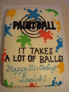 ideas birthday cake ideas for teens mason jars Happy Birthday Dog, Mum Birthday Gift, Cake Birthday, Birthday Ideas, Birthday Boys, 11th Birthday, Birthday Parties, Paintball Cake, Paintball Birthday Party