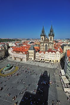 View from the clock tower Places Around The World, Travel Around The World, Around The Worlds, Central And Eastern Europe, Prague Czech Republic, Heart Of Europe, Most Beautiful Cities, Our Lady, Montenegro