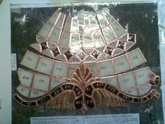 This is my latest work. This is one panel of a Baroque style lamp after foiling. Work (still) In Progress sorry for bad quallity, picture was taken with my phone