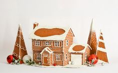 CUSTOM Faux Gingerbread Home for the Holidays - Custom Gift - Gingerbread House - Holiday Decor - Holiday Decoration - Winter Home Decor