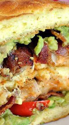 Bacon, Avocado, and Chicken Sandwich