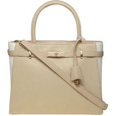 Dorothy Perkins Cream Summer Belted Tote Bag (576.180 IDR) ❤ liked on Polyvore featuring bags, handbags, tote bags, cream, summer handbags, summer purses, colorblock tote, color block tote bag and summer tote bags