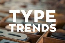 Typography trends for 2014! We are loving handwritten fonts and flat style type.