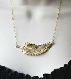 Gold Fern Pendant Necklace by Botanical Bird