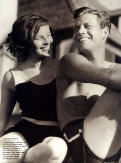 Katharine Hepburn and Joel McCrea, (Katharine looks so pretty in this picture) Hollywood Stars, Hooray For Hollywood, Golden Age Of Hollywood, Vintage Hollywood, Hollywood Glamour, Classic Hollywood, Katharine Hepburn, Divas, Portraits