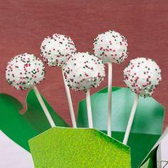 Holiday Sprinkle Cake Pops