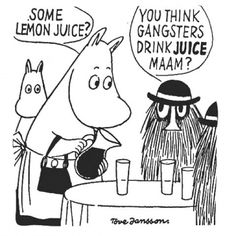 #ToveJansson #moomin #drawing #comic #gangsters