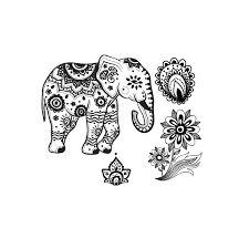 Resultado de imagen de tatouage éléphant mandala