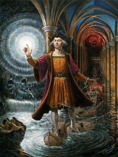 Michael Cheval -Tierra Incognita II -  óleo sobre lienzo