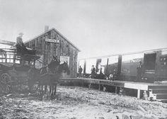 Boise Idaho train depot in the late 1800's.