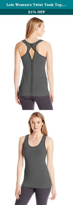 Lole Women's Twist Tank Top, Black Stripe, X-Large. This spirited tank top twists it up with Asymmetric cuts, sunny stripes and a scoop-neck on the front and back. It's a workout winner in our quick-dry, four-way stretch 2nd skin pop stripe, a Yarn-Dyed, moisture-wicking polyester/Elastin blend with a UPF 50+ factor.
