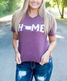 Look what I found on #zulily! Maroon 'Home' Oklahoma Tee - Adult #zulilyfinds
