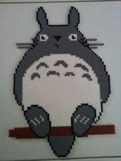 Totoro hama beads by Perlergirls