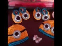 DIY.CROCHET MINNIONS Diy Crochet, Crochet Hats, Beanie, Tutorials, Youtube, Places, Knitting Hats, Beanies, Youtubers