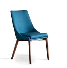 Midcentury Modern Gingko Home Furnishings DIN880-AZ Pascal Dining Chair, Azure