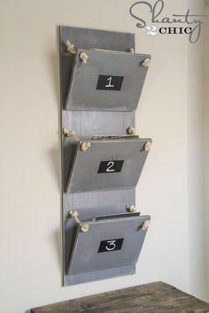 DIY mail holder