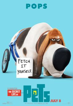 For Pops the basset hound, every breath is a cliffhanger. | The Secret Life of Pets | In Theaters July 8