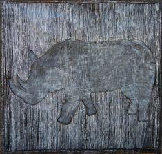 Abstract Expressionism Art, Abstract Art, Rhino Art, White Ink, Black And White, Original Art, Original Paintings, Animal Paintings, Buy Art