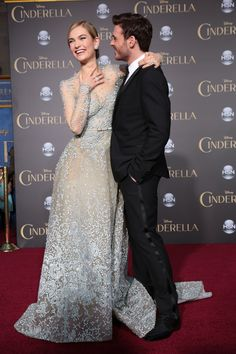 On the red carpet at Disney's Cinderella premiere!