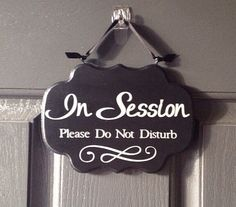 In Session Sign, Please Do Not Disturb Sign, Front Door Sign, Custom Colors On Wood on Etsy, $16.00