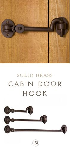 Perfect for use on a pocket door or small hatch, this Solid Bronze Cabin Door Hook Latch from Signature Hardware will add style and function to your DIY remodel. Great for replacing old hardware, this hook is offered in antique finishes that match many decor styles.
