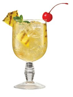 Memorial Day Cocktails-Aloha Sparkle  1 oz. Skinnygirl White Cherry Vodka 4 oz. sparkling water 1 oz. pineapple juice Garnish: pineapple wedge, cherry, mint sprig  Combine all ingredients in a glass filled with ice and stir. Garnish with a cherry and mint sprig.