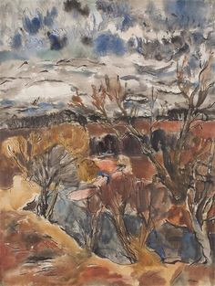 Sir William George Gillies - On the River Tyne; Medium: Pen and ink and watercolour; Dimensions: X cm. John William Waterhouse, Paintings For Sale, Tree Paintings, Royal Engineers, Value In Art, Landscape Paintings, Landscapes, Still Life, Art Boards