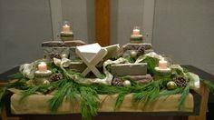 Advent altar December 2014 - thanks Bruce Stambaugh for the inspiration!