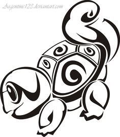 I would make this Tribal Squirtle into a tattoo, ugh I love it!